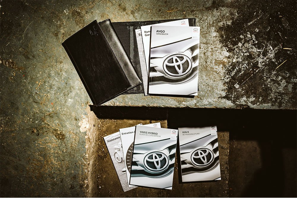 Toyota booklets